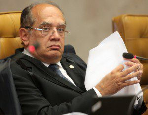 Ministro Gilmar Mendes em julgamento no plenário do Supremo. Foto: Carlos Humberto-STF (28/08/2013)