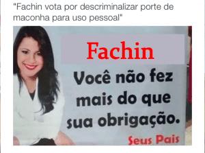 Tuíte de @samileblon sobre voto de Fachin descriminalizando porte de maconha para uso