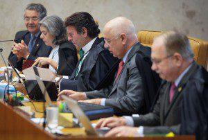 Ministros em sessão no plenário do STF. Fachin deve propor rito para o impeachment Foto: Nelson Jr. /SCO/STF