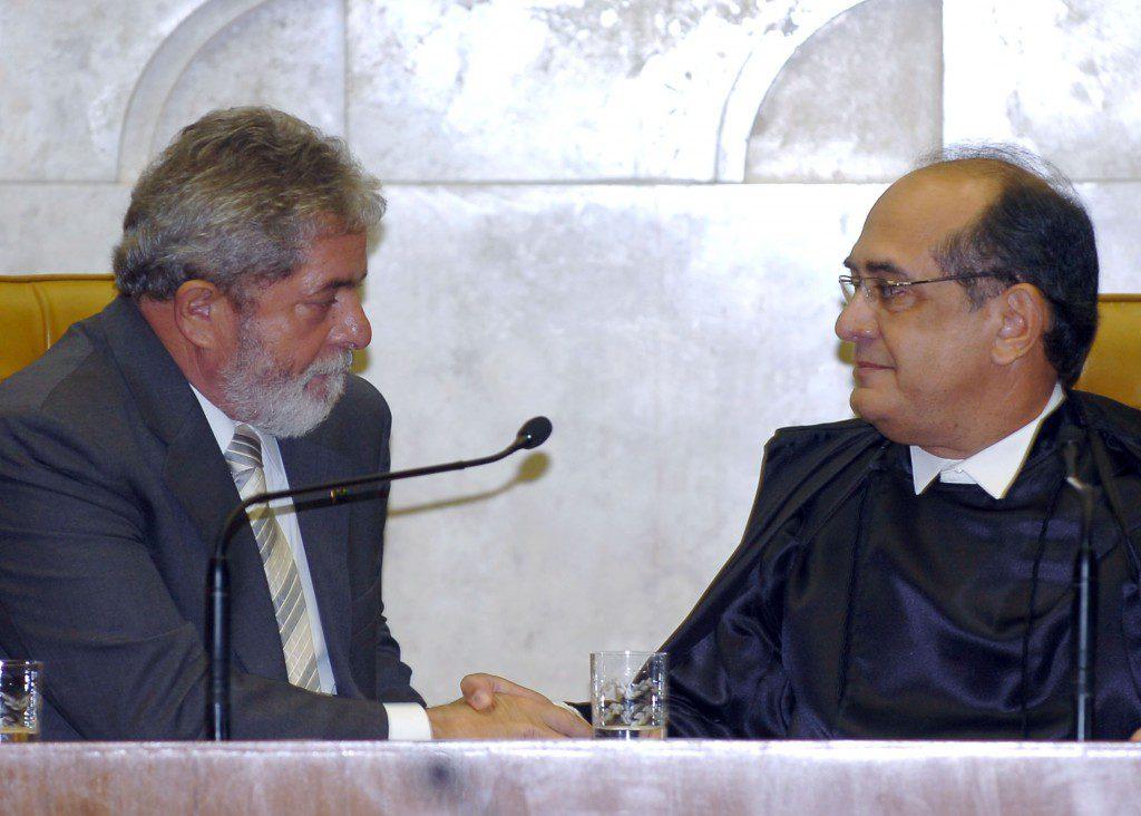 Lula e Gilmar Mendes - José Cruz/ABr