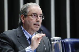 Eduardo Cunha, , presidente da Câmara, tenta barrar recebimento de denúncia no STF. Foto: Marcos Oliveira/Agência Senado