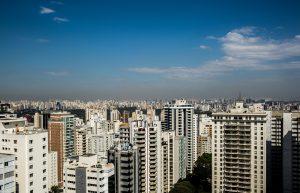 Topo de prédios de uma metrópole itbi