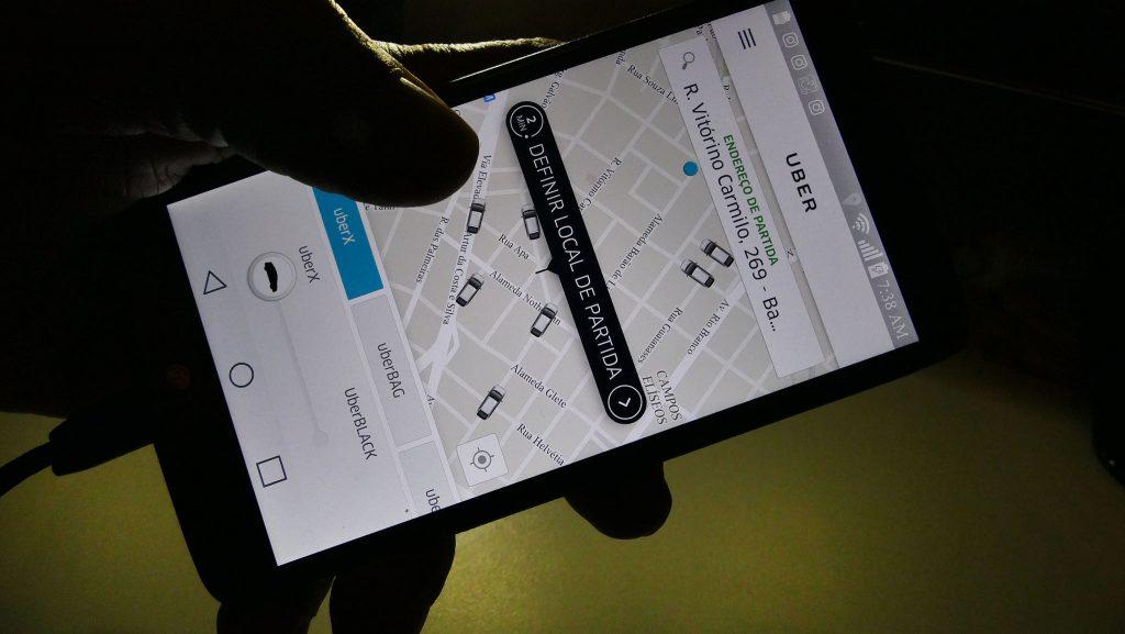 Uber; aplicativo
