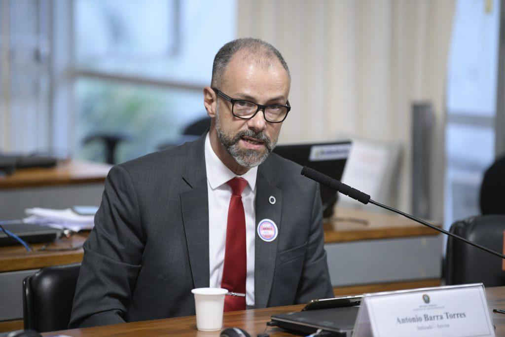 Antonio Barra Torres, diretor-presidente da Anvisa, em sabatina no Senado. Foto: Pedro França/Agência Senado