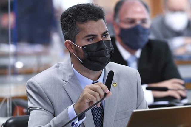 Senador Marcos Rogério em audiência da CPI da Covid