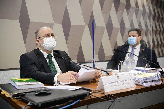 Augusto Aras na sabatina na CCJ do Senado / Crédito: Divulgação Agência Senado