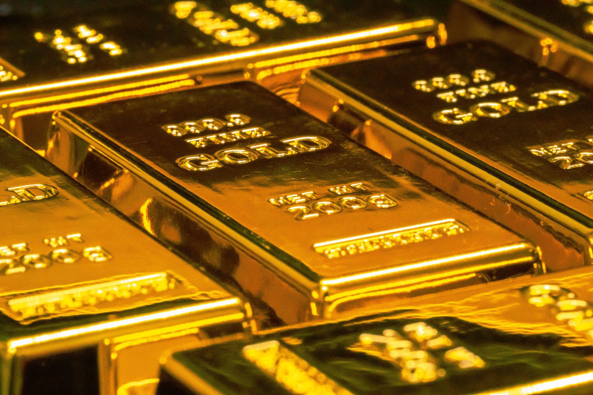 Imagem mostra barras de ouro